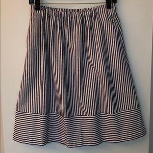 J Crew Linen Tea Length Skirt - Size 6